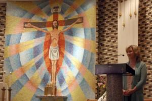 Singing the Shepherd song at St. Joseph's church.
